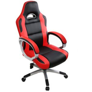Intimate WM Heart Bürostuhl, Gaming-Stuhl, Racing Gaming Stuhl, Schreibtischstuhl mit hoher Rückenlehne, Höhenverstellbarer Drehstuhl Chefsessel, Rot
