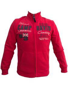 Camp David Sweatjacke CCU-2055-3587 Jacke Stehkragen Hoodie langarm racing red (XXXL)