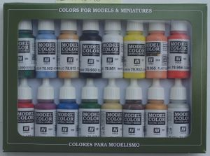 Model Color Vallejo 70140 Basic Colors Usa 16x 17ml Airbrush Farbe