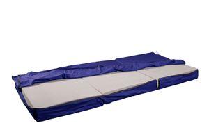 Ersatzbezug TRAVEL ✔ 90x200x12cm  ✔ blau ✔ Germany  ✔270g/m² Gewicht ✔40°C waschbar ✔ robust ✔ direkt vom Hersteller shogazi ® Manufaktur