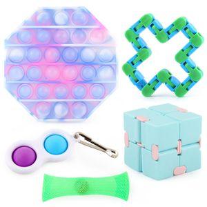 Sensory Fidget Toys Set 5-teiliges Fidget Toys Pop it Pops für Kinder und Erwachsene, lindert Stress und Angst Zappeln Spielzeug