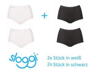 Sloggi Basic+ Maxi Slip 4er Pack schwarz/weiß Gr. 46
