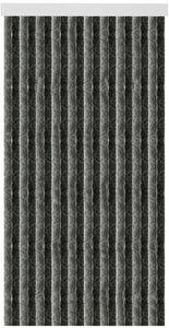 Flauschvorhang 80x220 cm in Unistreifen anthrazit - schwarz, viele Farben