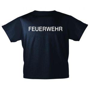 Kinder T-Shirt Brust- und Rückendruck - Feuerwehr - 12718 marineblau - Gr. 98-164 Größe - 98/104