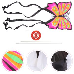 2 Sätze Kinder Schmetterlinge Drachen Long Tail Drachen Lustiges Flugspielzeug für Spiele im Freien