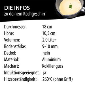 STONELINE®  Germany Stielkasserolle, 18 cm, mit abnehmbarem Griff
