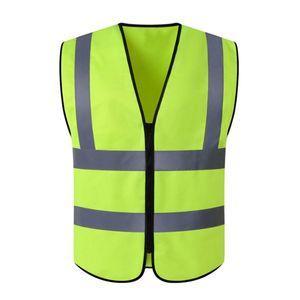 1x reflektierende Sicherheitsweste Farbe Fluoreszierendes Gelb