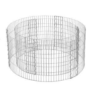 SONGMICS runde Steingabione aus Metall 90 x 40 cm (Ø x H) Gabione Steinkorb 2,5 x 10 cm engmaschiges Gitter Drahtzaun aus verzinktem Stahl rostfrei GGB479