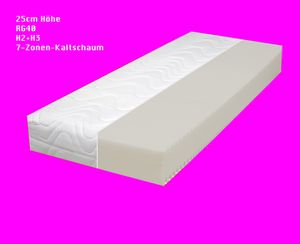25cm  RG40   MAMMUT-EXTRA ( 90x200cm )    7-Zonen  KALTSCHAUM MATRATZE H2+H3