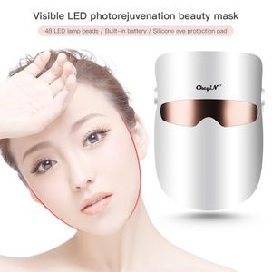 CkeyiN LED Gesichtsmaske sichtbar Maske Hautverjüngung Bleaching Photonentherapie Schönheitsgerät für Falten Akne