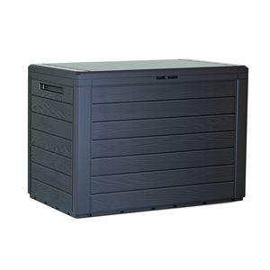 Woodebox Gartenbox Kissenbox Gartentruhe Verschließbar Gartenbox 190L Anthrazit