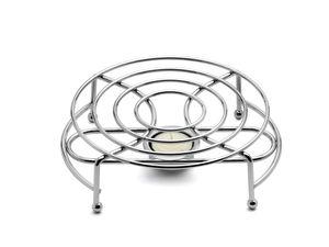 Teekanne Stövchen Kaffeewärmer Teewärmer für Teekanne Teelicht aus Edelstahl
