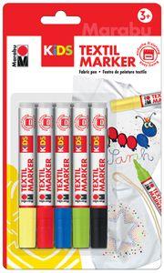 Marabu KiDS Textilmarker 5 x 3 ml 5er Blister