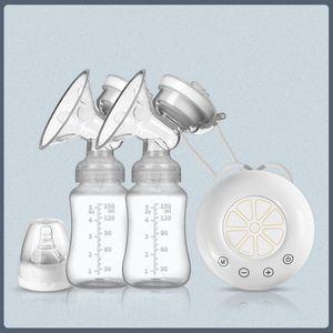 Elektrische Doppelmilchpumpe»Elektrische Milchpumpe Einzel- und Doppelmilchpumpe Manuelle Silikonmilchpumpe Stillzubehör für Babys