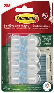 3M Command Outdoor Kabel-Clip transparent Größe: S Kunststoff 8 Clips