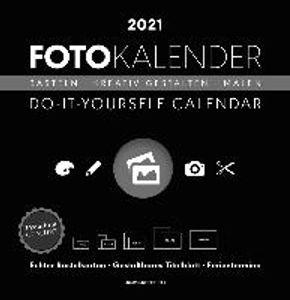 Foto-Bastelkalender 2021 groß datiert, schwarz