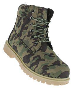 Winterstiefel Camo Outdoor Boots Stiefel Winterschuhe Herrenstiefel Herren 052, Schuhgröße:45, Farbe:Grün