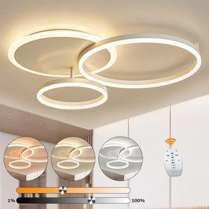 LED Deckenleuchte 3 Ringe 40/30/20cm 36W dimmbar mit Fernbedienung Schlafzimmer LED Deckenleuchte