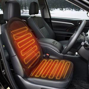 Tvird Auto Sitzheizung Heizkissen Heizauflage Heizstufe beheizbar Kissen 12V schwarz (Klassisch)