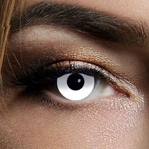 Kontaktlinsen White Zombie 1 Woche, Halloween Zombie Vampir
