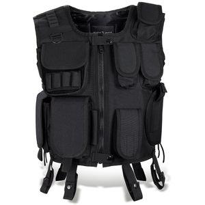 Black Snake® SWAT Einsatzweste taktische Weste schwarz Paintball Softair Gotscha Brustschutz - XS/S - SWAT