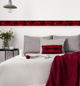 MyMaxxi - Bordüre selbstklebend  Rosen 600 x 20cm  Wandbordüre Wandtattoo  Aufkleber wasserdicht geeignet für Bad  Dekoration für Ihr Badezimmer Wohnzimmer Küche