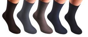 10 Paar Diabetiker Socken ohne Gummi Damen Herren Gr. 43-46