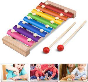 8 tasten töne holz xylophon klavier schillern schlaginstrumente für kleinkinder kinder kinder vorschule lernspielzeug mit schlägeln