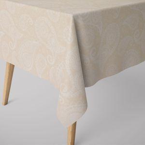 SCHÖNER LEBEN. Tischdecke Paisley natur weiß verschiedene Größen, Tischdecken Größe:130x200cm