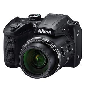 Nikon Digitalkamera Coolpix B500, 16 Megapixel, Full HD Bridge-Kamera, 40-fach optischer/4-fach digitaler Zoom, 23 - 900 mm Brennweite, optischer Bildstabilisator, 1/2,3'' CMOS-Sensor, F3 (W) - F6,5 (T), 7,62 cm (3 Zoll) Display, WLAN, Bluetooth, HDMI, Gesichtserkennung