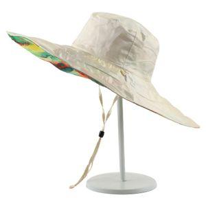 Beige Sonnenhut Sonnenschutz im Freien und UV-Schutz Hut mit Großer Krempe Hut Mütze Cap