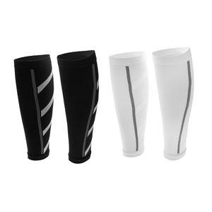 2 Paar Unisex Kompressions- Wadenbandage Wadenschutz Unterschenkelbandage Wadenschoner Bandage