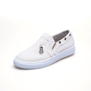 (Beige,43)Damen Denim Canvas Schuhe Loafer Mokassin Flache Freizeitschuhe