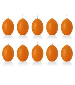 10er Set Eierkerze, Osterei, 6,1 x 4,4 cm, orange