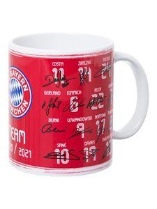 FC Bayern München FCB Tasse, Becher, Kaffeetasse TEAM mit Unterschriften 2020/21, 26158