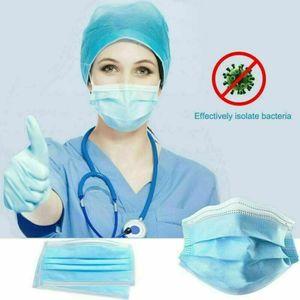 100 Pcs Atemschutzmasken, Mundschutz 3-lagig Vlies,Einwegmasken,Infektionsschutz,Schutzmaske,Mundschutzmasken,Staubdichte Schönheitsmaske,Staubdicht,Anti-Speichel