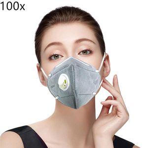 100x Atemschutzmaske  Maske (≥95\% = FFP2≥ 94\% ) Atemschutz Mundmaske Hygienemaske Wiederverwendbar N95, 100X
