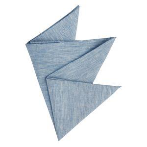 Olymp Einstecktuch Leinen blau melange , Einheitsgroesse:one size
