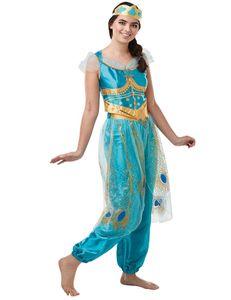 Disney Damen Kostüm Prinzessin Jasmin Karneval Fasching Gr.S