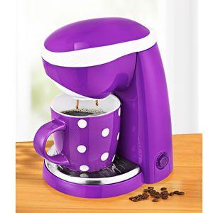 Mini-Kaffeemaschine 400 W Reise Kaffeemaschine Dauerfilter Camping Single lila