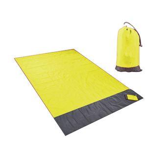 Picknickdecke Stranddecke Wasserdicht, Strandmatte Sandfrei/Picknick für den Strand, Campen oder Wandern Farbe Gelb