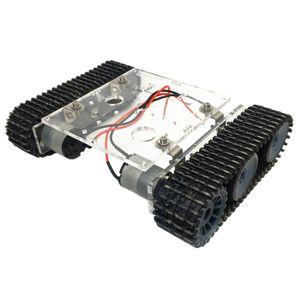 Acryl Intelligente Roboter DC9-12V Panzer Chassis mit Raupenkette für Arduino-Bausatz DIY Wissenschaft Spielzeug