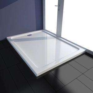 Duschwanne ABS Duschtasse Brausewanne Duschbecken Weiß 80×110 cm