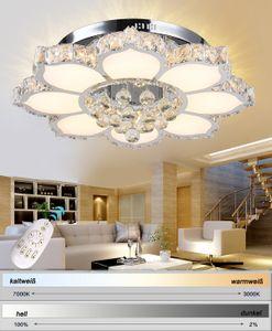 LED Deckenleuchte 3017WJ-660 132W mit Fernbedienung Lichtfarbe/Helligkeit einstellbar. Kristall 3x5 cm. 132 watt A+