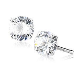 Ohrstecker 925 Sterling Silber Damen Ohrringe Zirkonia Kristall Geschenk silber-klar 10 mm