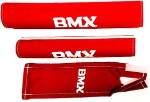 pads BMX Junior Schaumstoff rot 3-teilig