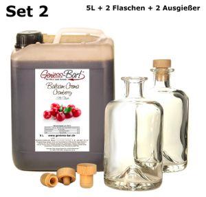 Balsamico Creme Cranberry 5L + 2 Flaschen & Ausgießer Mit original Crema di Aceto Balsamico di Modena IGP