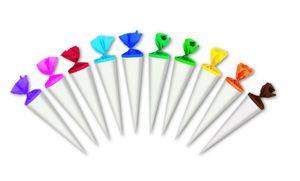 10 Bastel Schultüten / Zuckertüte / Länge: 35cm / rund / Farbe: weiß