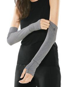 Coolibar - UV-schützende Ärmel für Damen - LumaLeo - Grau, S/M