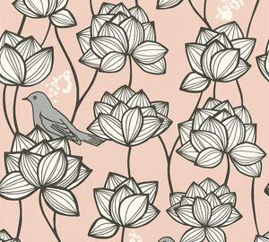 A.S. Création Vliestapete Palila Tapete grau rosa weiß 10,05 m x 0,53 m 363174 36317-4